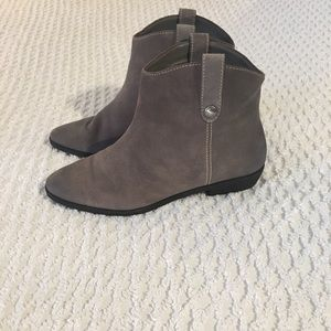 Gray Michael Kors ankle boots